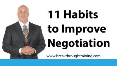 11 Habits to Improve Negotiation