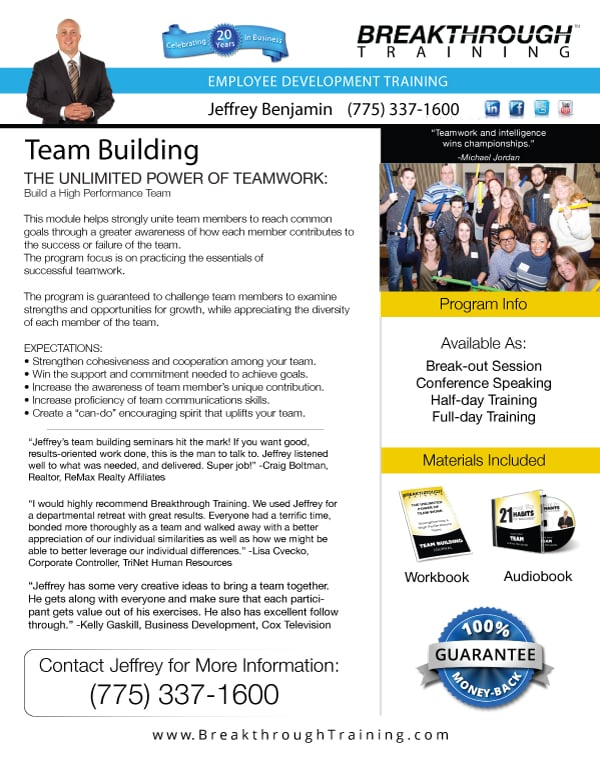 team building flyer web icon 2014 breakthrough training. Black Bedroom Furniture Sets. Home Design Ideas