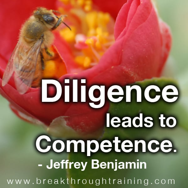 Diligence Leads to Competence.