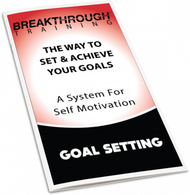 Goal Setting Journal - Breakthrough Training