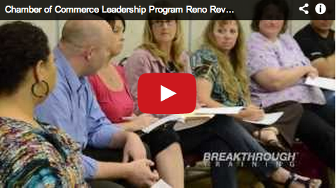 Reno Chamber Leadership Program Breakthrough Training
