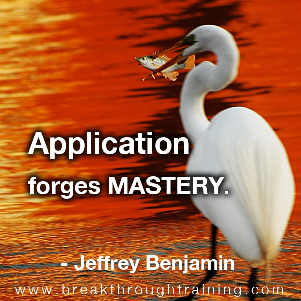 Application forges mastery.