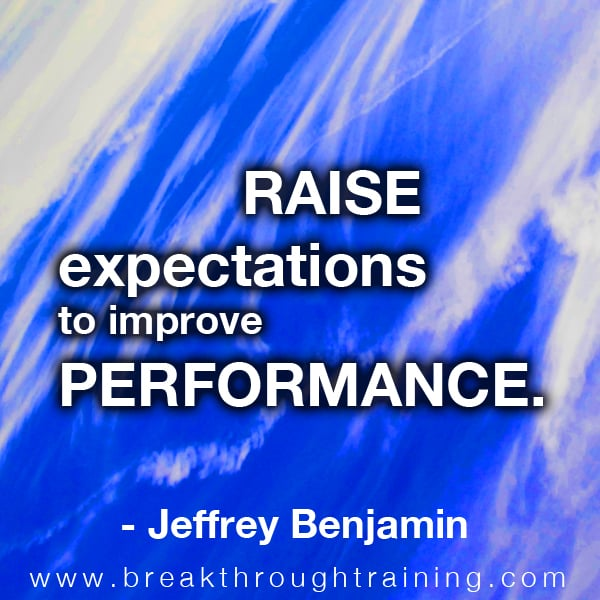 Jeffrey Benjamin quote on expectations
