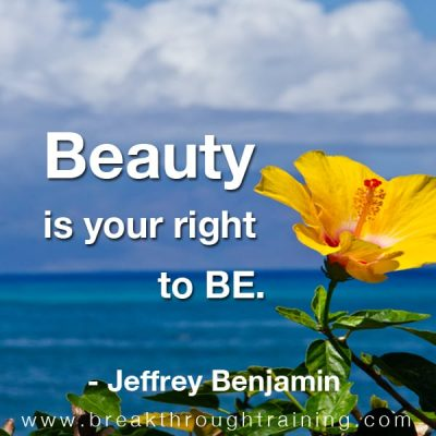 Jeff Benjamin beauty is your right to be