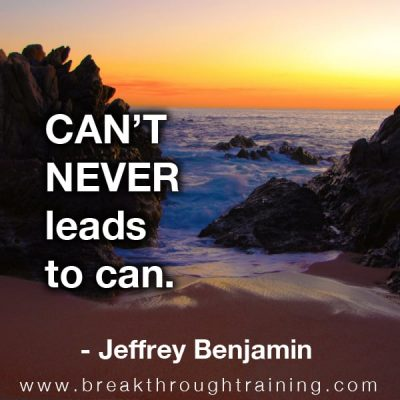 Jeffrey Benjamin quotations about possibility