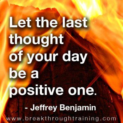 Jeffrey Benjamin quote on positive thinking