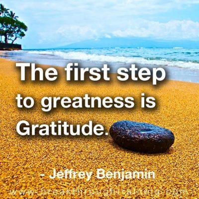 Jeffrey Benjamin quote on gratitude