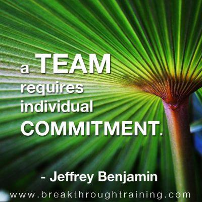 Jeffrey Benjamin famous quote on commitment