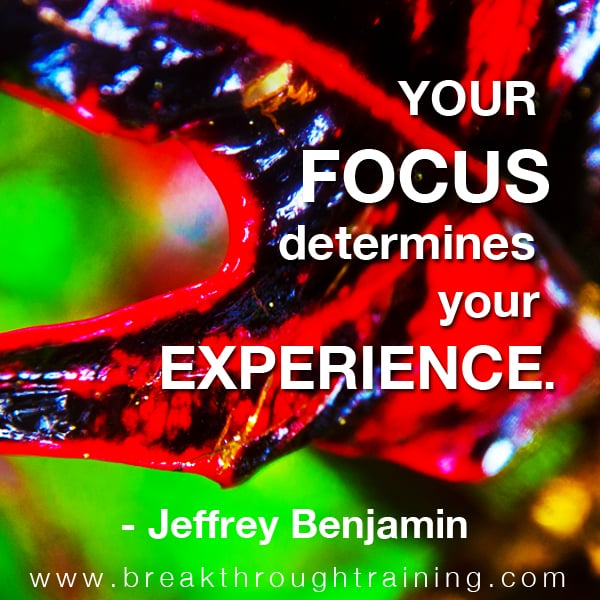 Your focus determines your experience.