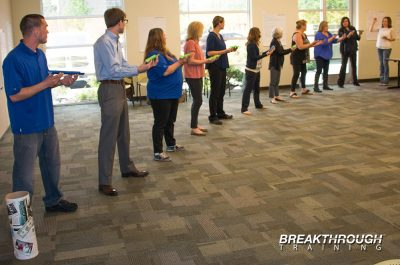 Breakthrough Training leadership program communication activity in Reno