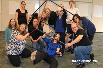 Breakthrough Training leadership program team building activity in Reno