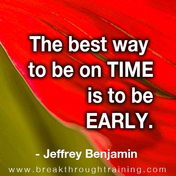eff benjamin time management quotes
