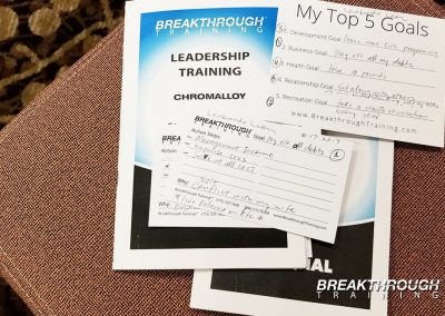 chromalloy-leadership-seminar-breakthrough-training-goal-setting