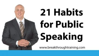 21 Habits to Improve Public Speaking