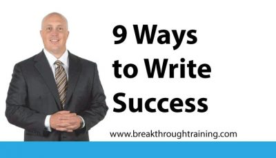 9 Ways to Write Success
