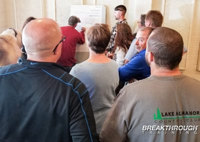 lake-almanor-country-club-customer-service-training-breakthrough-poster-writing