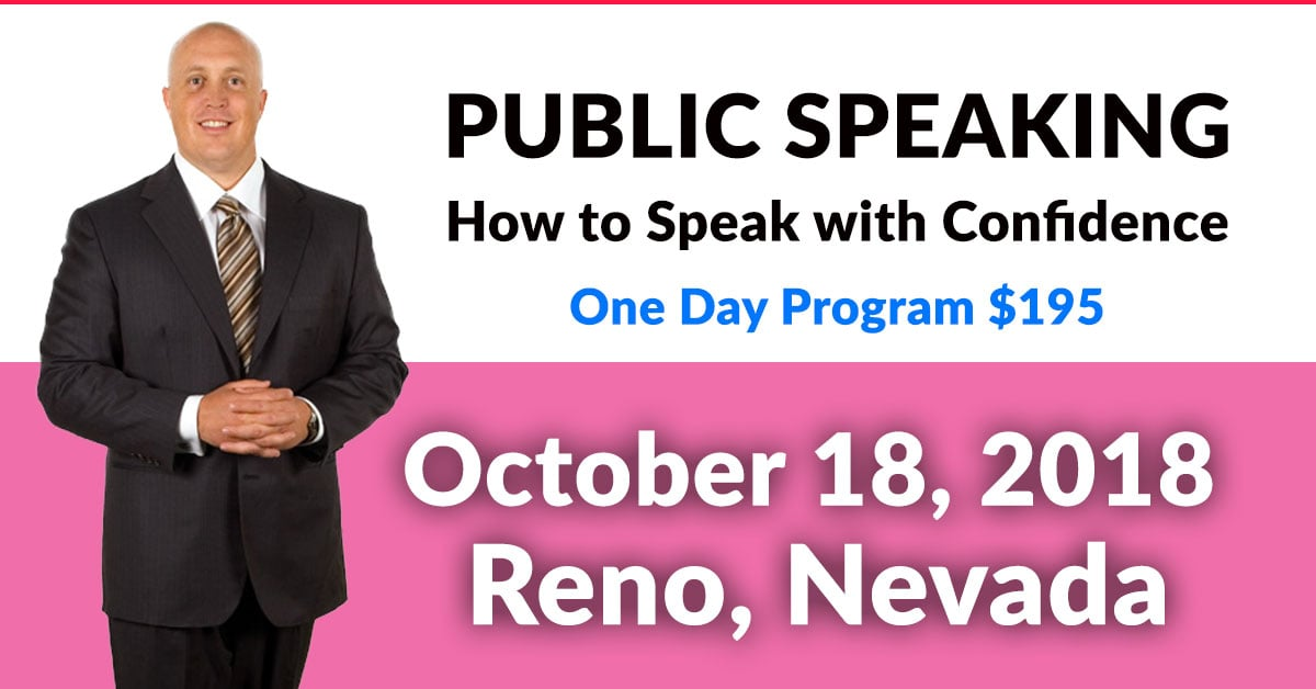 public speaking seminars in reno